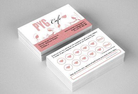 Business Card Design Pyg Cafe