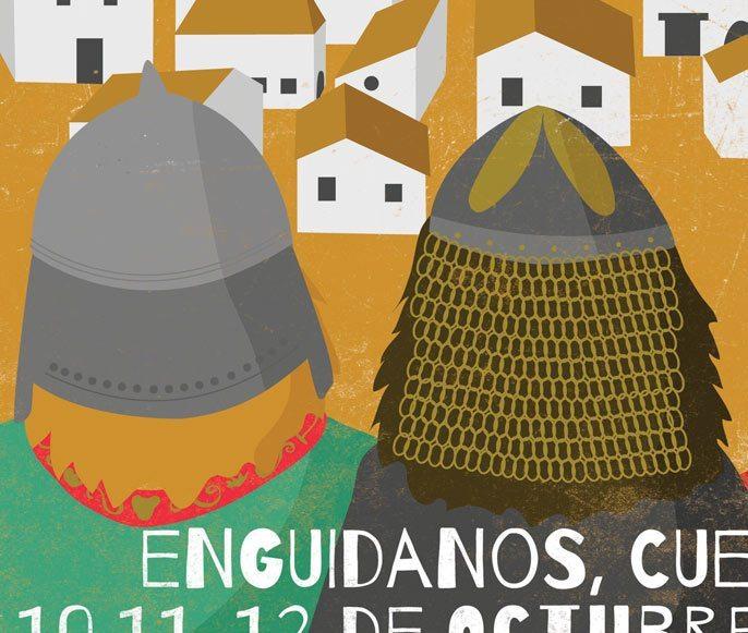 Poster Design - Illustration - Vikings - Celtics - Detail