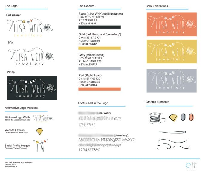 Lisa Weir Jewellery Guidelines