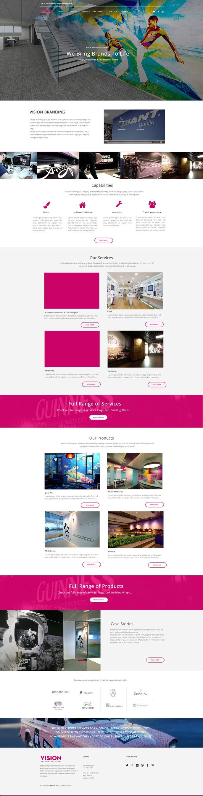 Web Design - Dublin - VisionBranding.ie