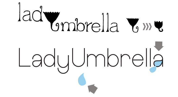 Logo Design - LadyUmbrella - Ireland