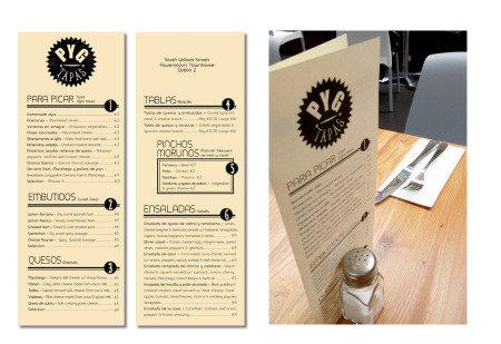 Design Menu Bar Tapas Pygmalion Dublin