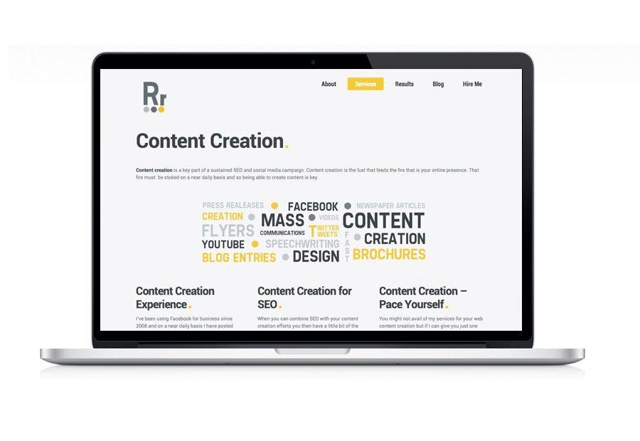 Web Design Rob Ryan Content Creation