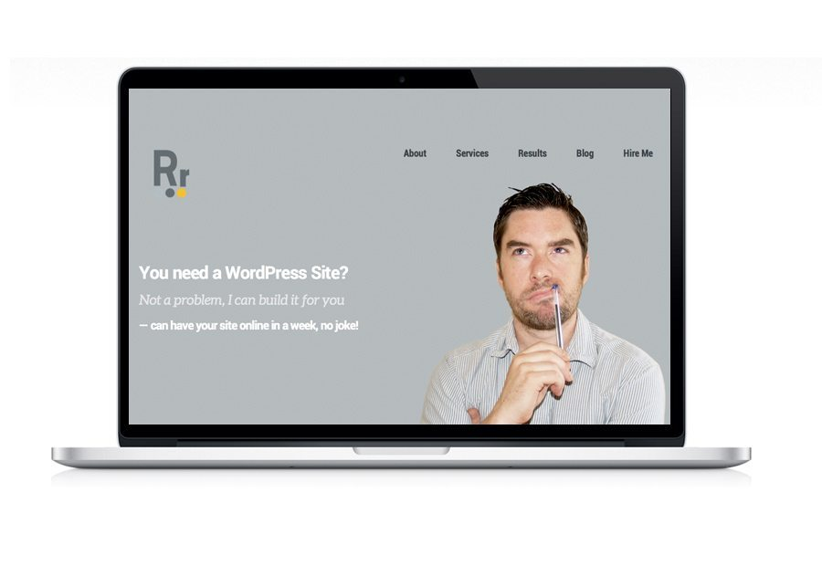Web Design Robert Ryan Homepage