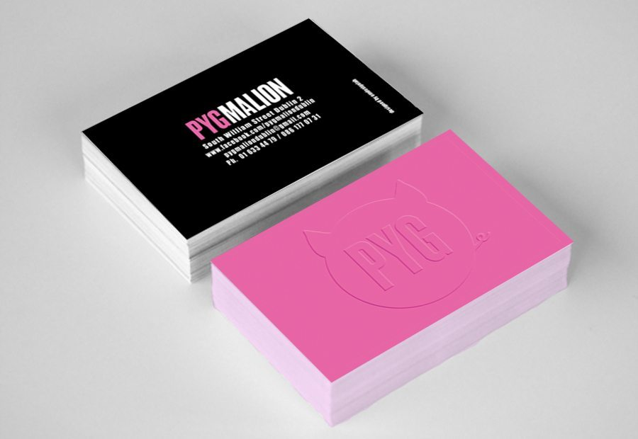 Business Card Design Club Dublin, Pygmalion