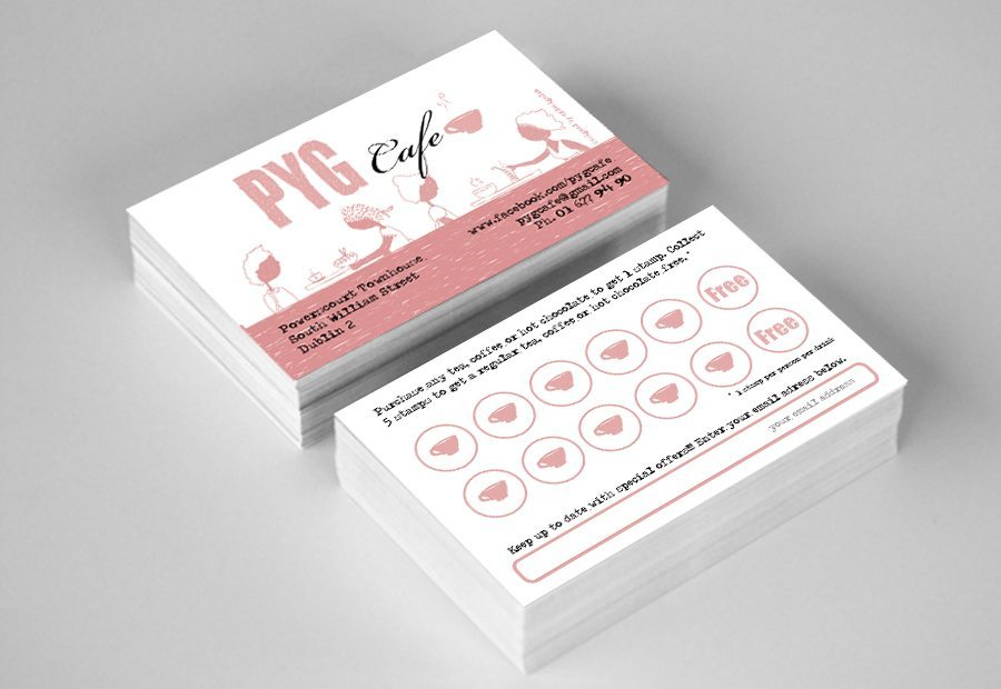 Business Card Design Pyg Cafe