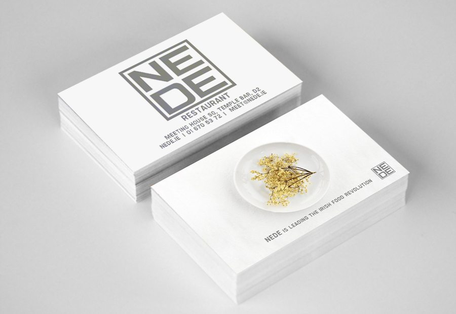 Business Card Design Restaurant Nede