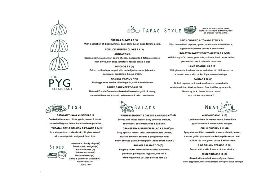 Design Menu Pyg Restaurant
