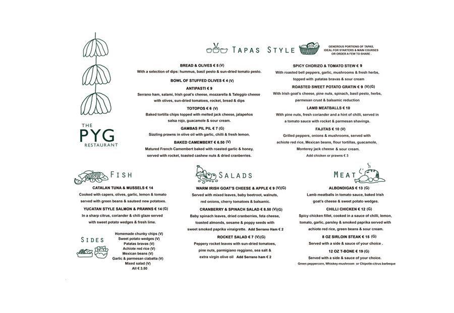 Design Menu Pyg Restaurant