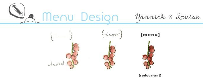 Menu Design - Yannick & Louise