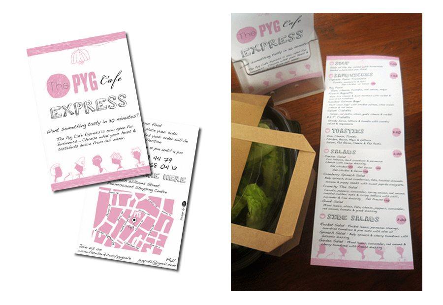 Print design waffle time Pyg Cafe