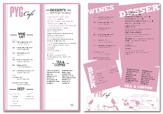 Drinks Menu Design