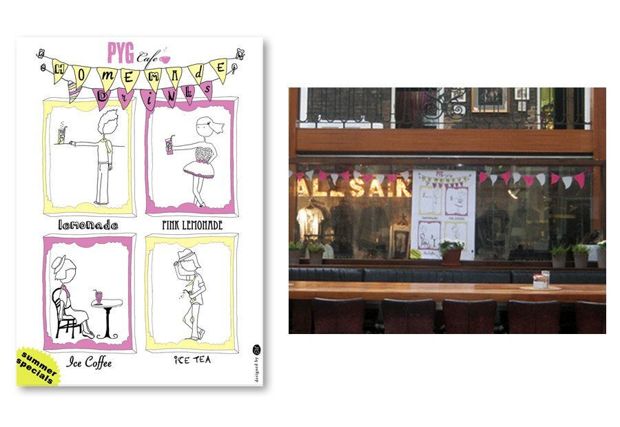 Poster design homemade drinks Pyg Cafe