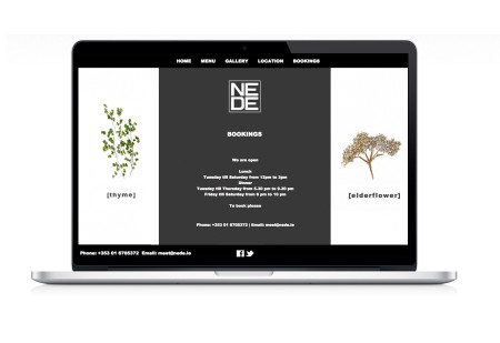 Website Design Nede Restaurant Booking