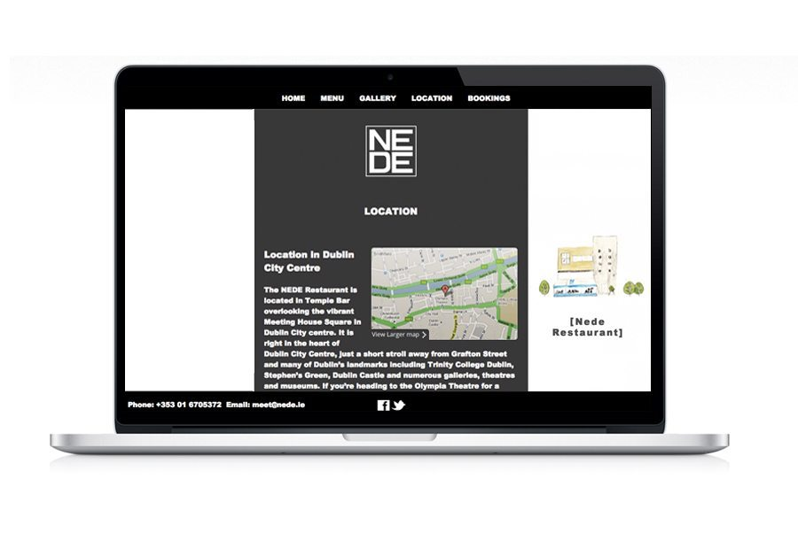 Website Design Nede Restaurant Location