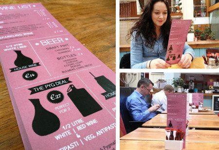 Cafe Menu Graphic Design - Pyg Cafe