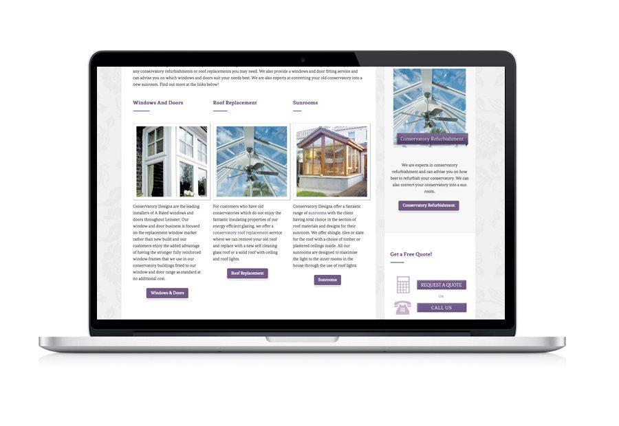Web Design Conservatory Design Website