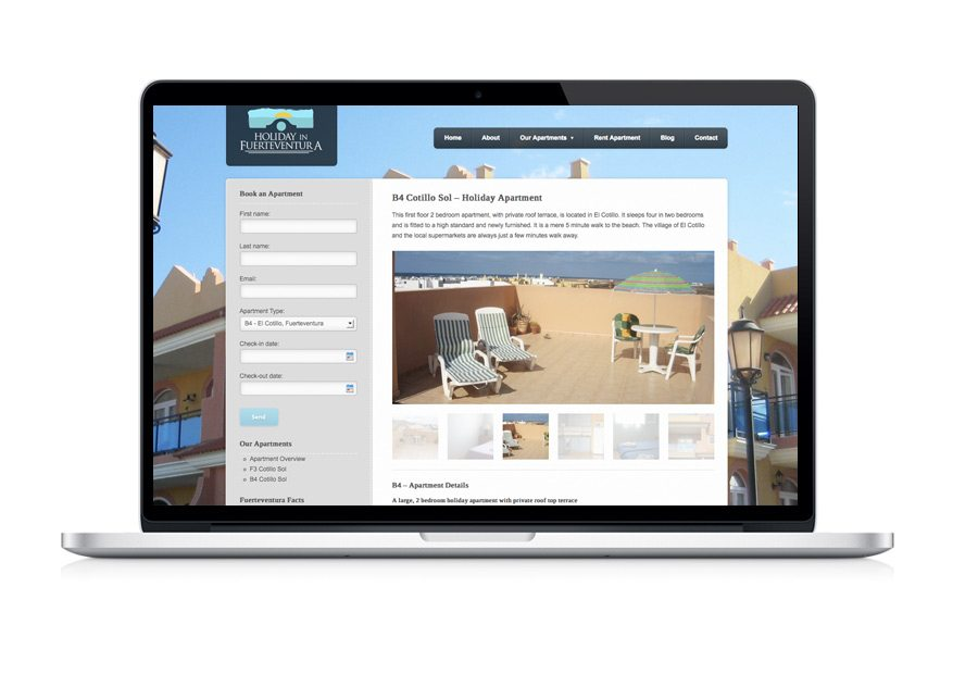 Web Design - Apartments Holidays