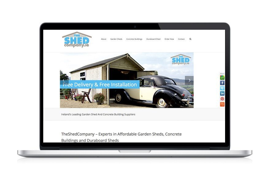 Web Design - Shed Company