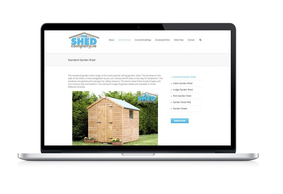 Web Design - The Shed Company