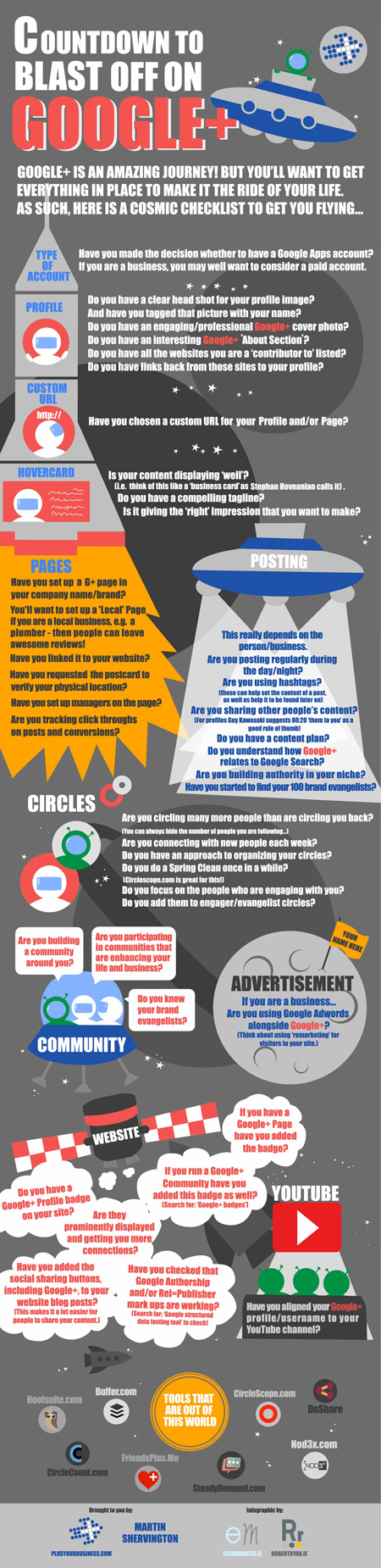 Infographic Design - Countdown To Blasting Off On Google +