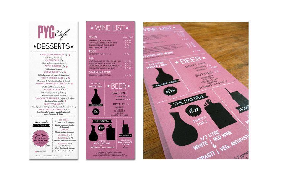 Graphic Design - Menu Design - Drinks
