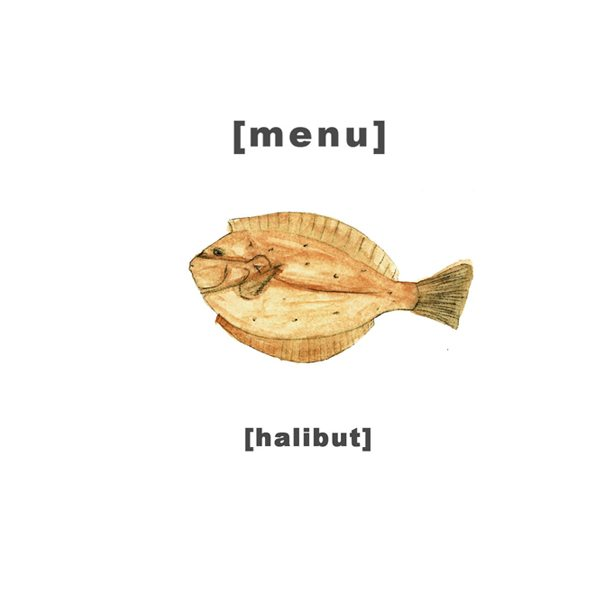 Design Menu - Illustration Halibut