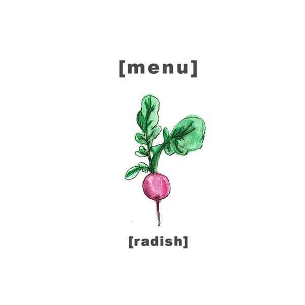 Design Menu - Illustration Radish