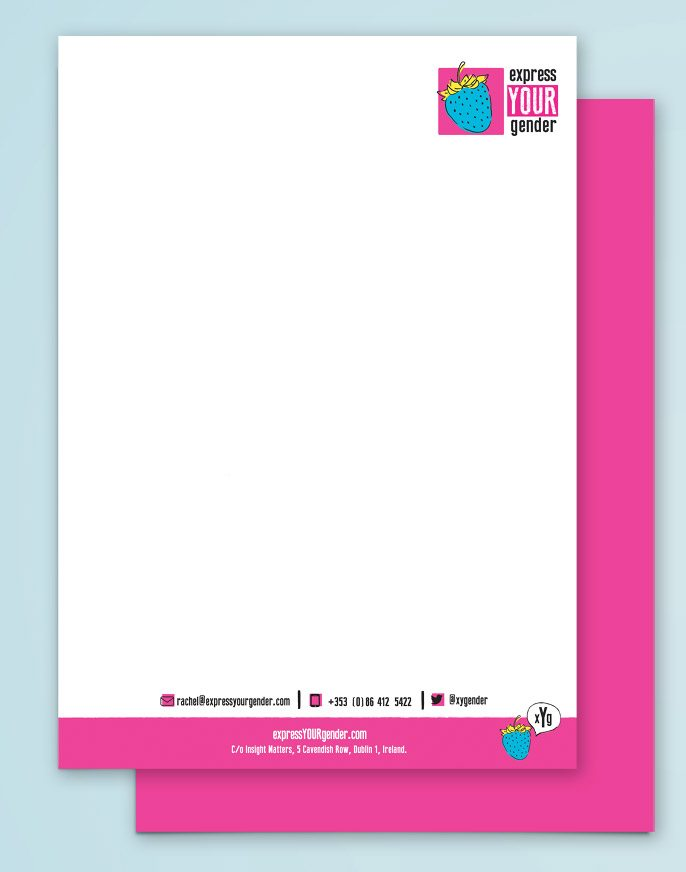 Letterhead Design - Express Your Gender