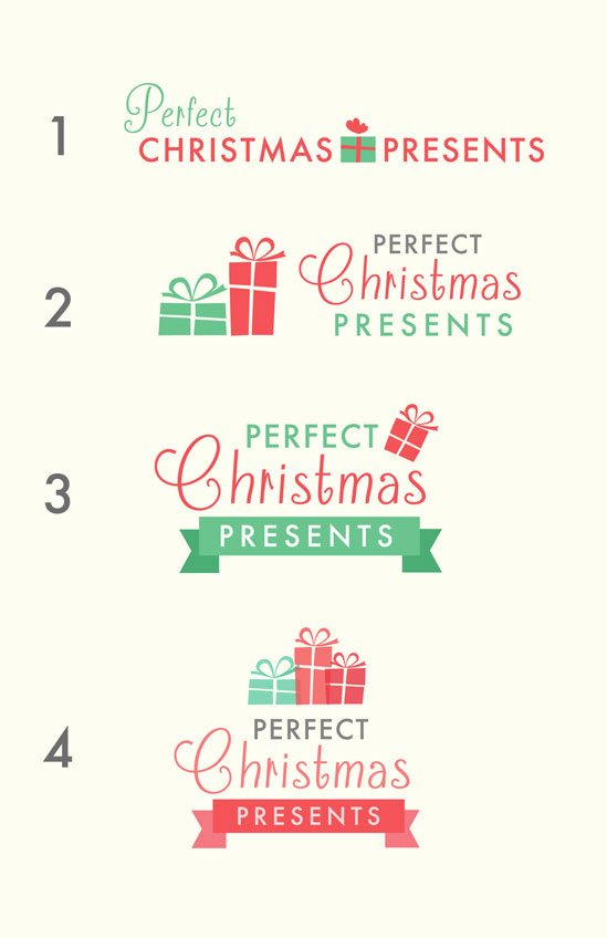 Perfect Christmas Presents - Logo Designs