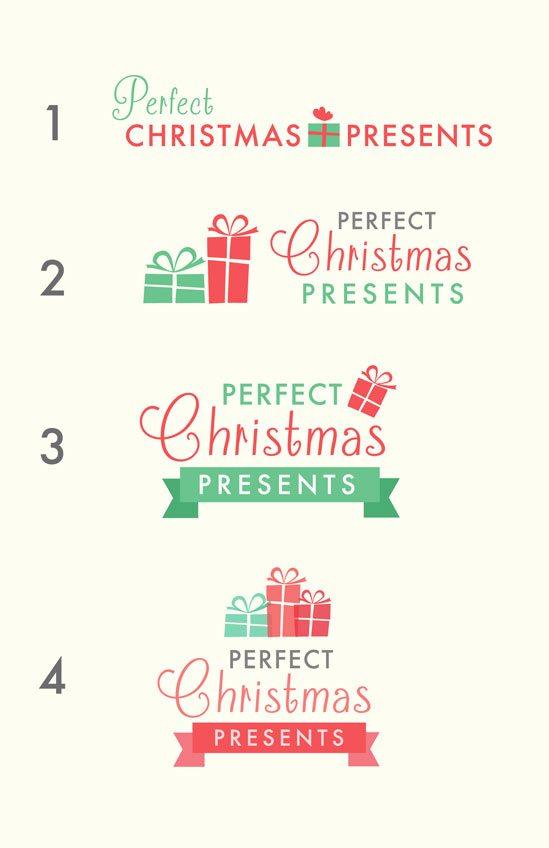 Perfect Christmas Presents - Logo Designs
