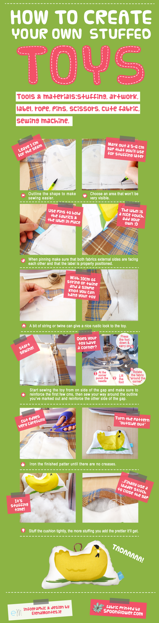 Infographic How to Create Your Own Stuffed Toys