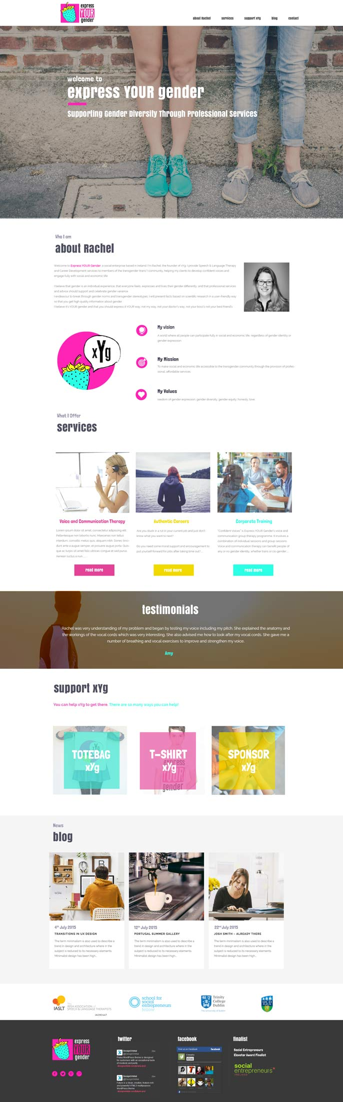 Web Design - Dublin - ExpressYourGender.ie