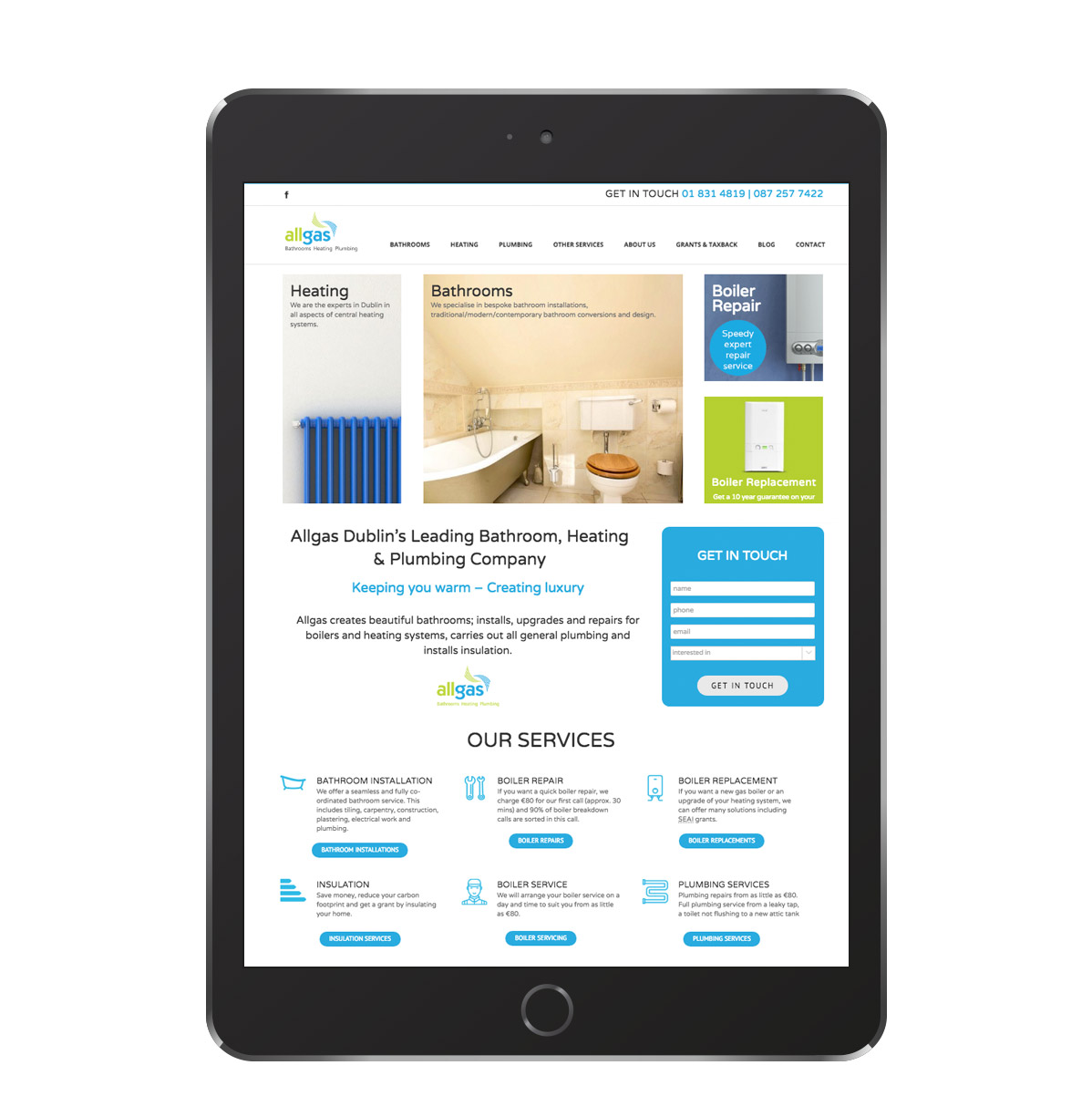 web design - all gas - dublin