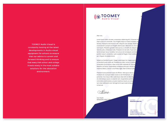 Branding and Logo Design - Toomey Ireland