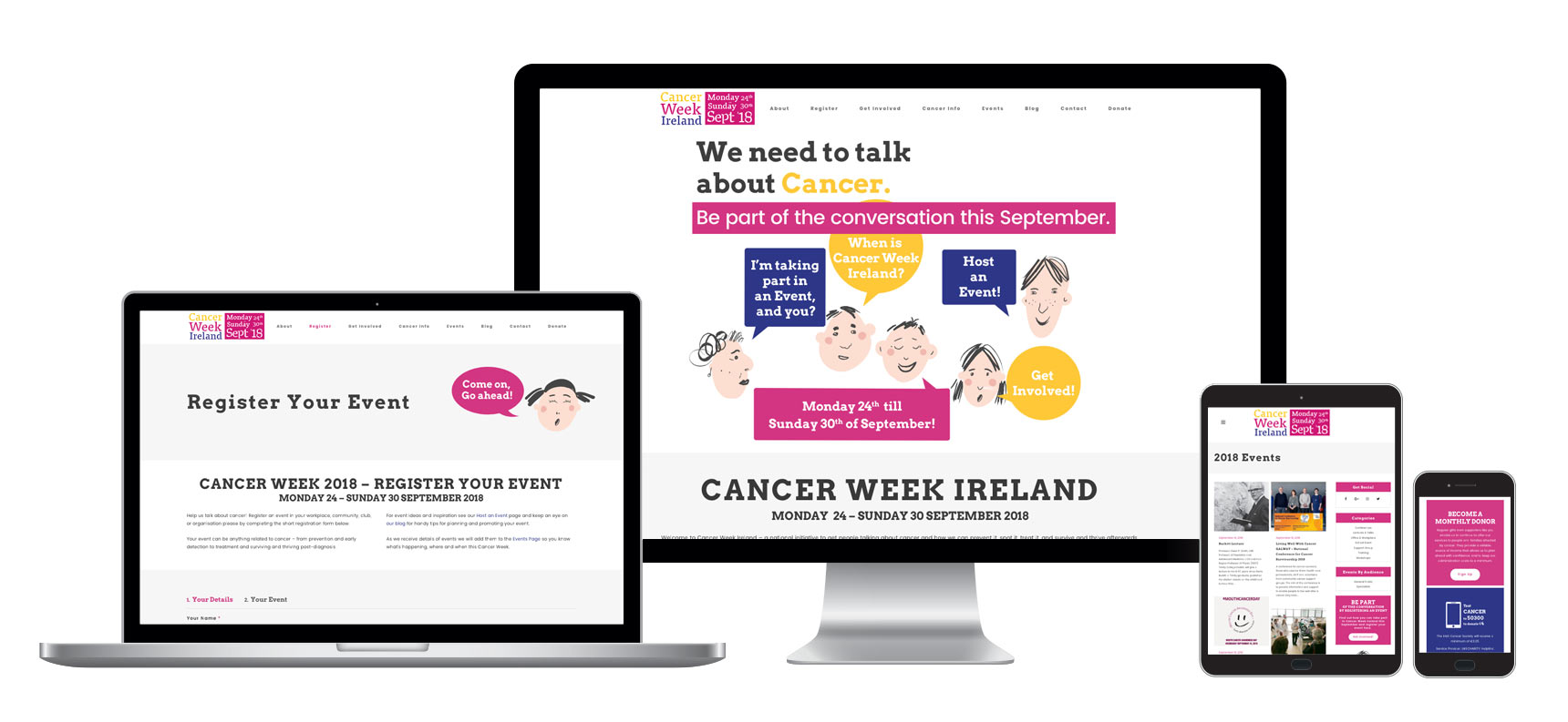 Web Design - NGO and Charity - Ireland