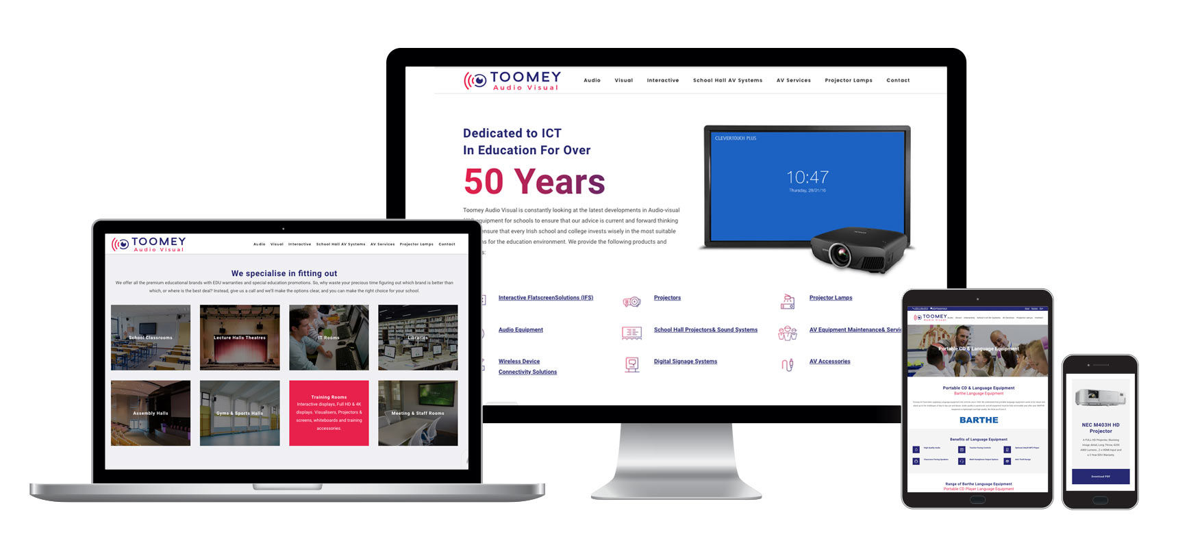 Web Design - Toomey AV - Ireland