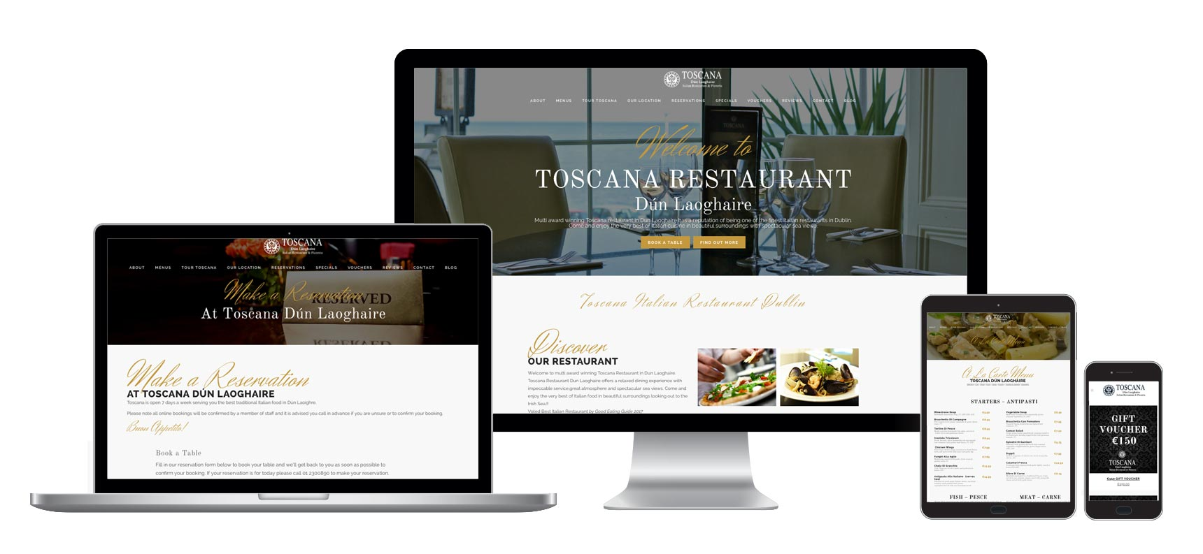 Web Design and Develoopment - Restaurant - Ireland