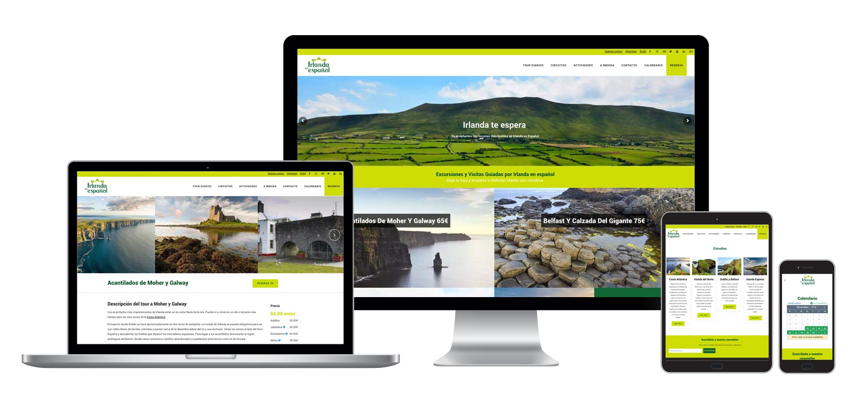 Web Design and Development - Tours Website Ireland