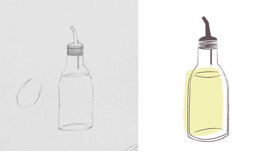 Tea Towel Design - Olive Oil